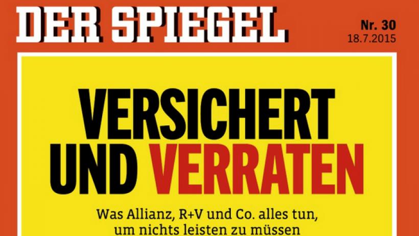 Spiegel erhebt vorw rfe gegen versicherungen versichert for Spiegel printausgabe