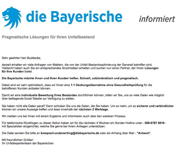 Generali Saniert Unfallversicherung Bayerische Schickt Die